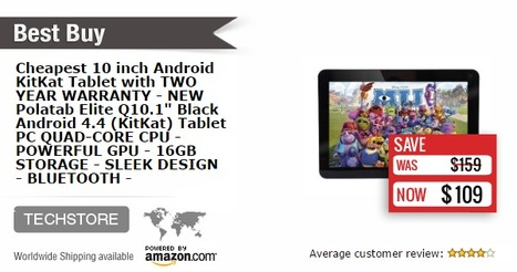 50% OFF -  NEW - 10 inch Android Tablet with 2 Year Warranty - QUAD-CORE CPU -16GB Storage | Technology in Business Today | Scoop.it