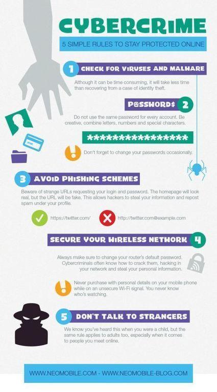 5 règles à respecter pour se protéger des cybercrimes #Ereputation | L'E-Réputation | Scoop.it