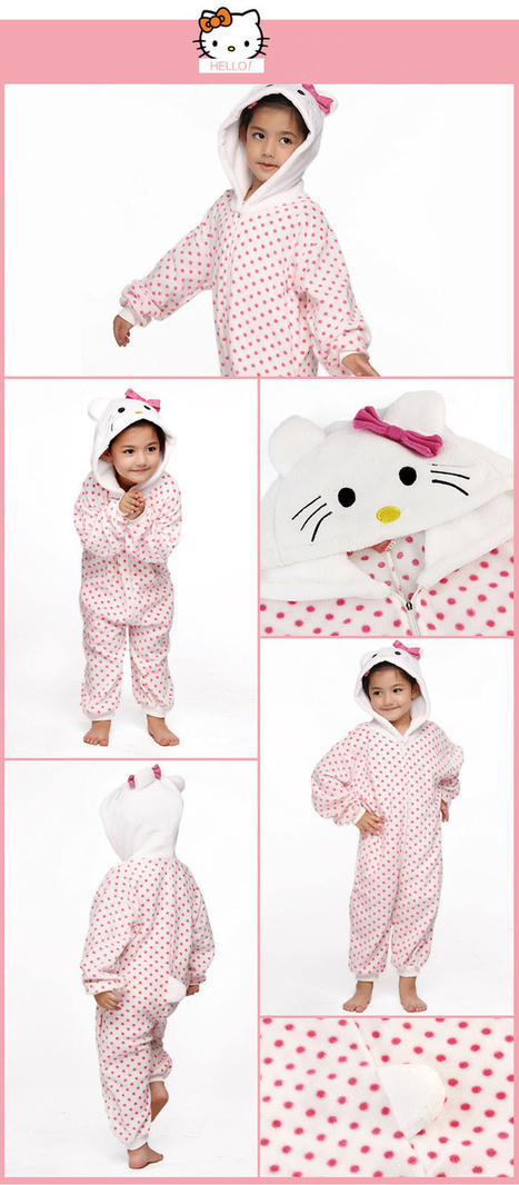New Pink Branded Kids Animal Onesie Pajamas C112 On Sale Free Shipping 40% Off.   Animal Onesie   Scoop.it