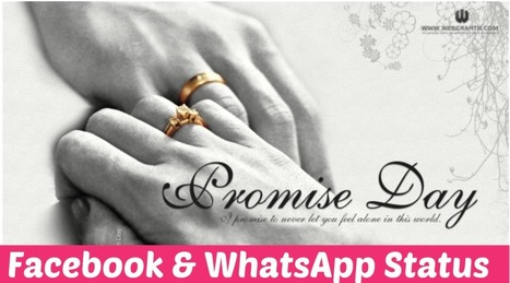 Promise Day WhatsApp And Facebook Status Free | Happy Valentines Day Greetings 2015 | Blogging Orb | Scoop.it