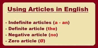 Таблица : Английски член - Видове членове - Правила за членуване (The Articles). | Английски език. | Scoop.it