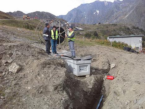 Piau-Engaly : le Conseil général et ERDF posent en commun réseau électrique et fibre optique | Vallée d'Aure - Pyrénées | Scoop.it