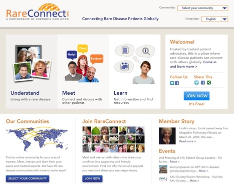 RareConnect: Online global patient network for Rare Diseases | mHealth: Patient Centered Care-Clinical Tools-Targeting Chronic Diseases | Scoop.it