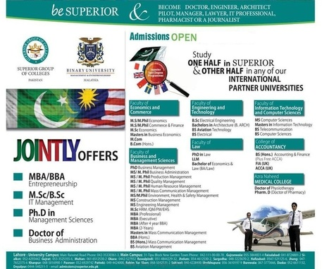 Superior University Admissions 2013 | All Eductional News | Scoop.it