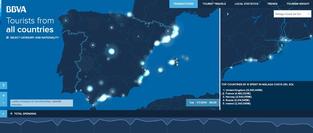 Visualización de datos: el gasto de los turistas en España a partir de las transacciones con tarjetas bancarias