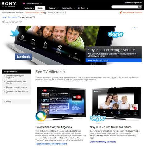 Sony's marketing flags up Social TV to sell smart TVs - Insights into innovation in social TV | Radio 2.0 (En & Fr) | Scoop.it