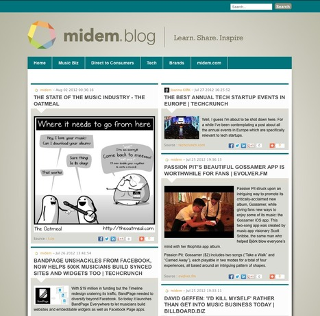 Midem blog | Showcase of custom topics | Scoop.it