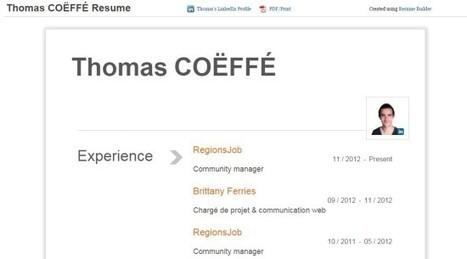 Transformer son profil LinkedIn en CV avec Resume Builder   L'expérience candidat   Scoop.it