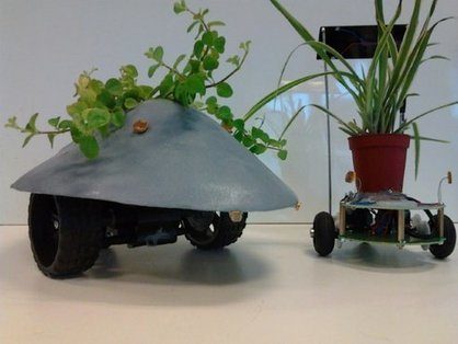 Robotic Plant Drone Moves Houseplants to Sunny Spots | Getting Technical with Technology | Scoop.it