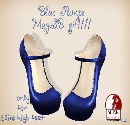 Blue Pumps for Slink High Feet Gift by Mag | Second Life Freebies | Scoop.it