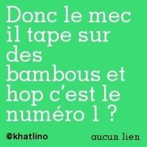 Donc le mec il tape sur des bambous et hop c'est le numéro 1 ?   Trollface , meme et humour 2.0   Scoop.it