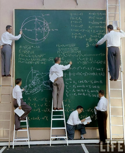 Science is Beauty • Blackboard at NASA (1960s), before Powerpoint.... | Technologeek | Scoop.it