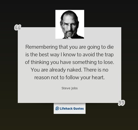 12 Inspiring Quotes from Steve Jobs That Enrich your Day | Coached Anti-Aging | Scoop.it
