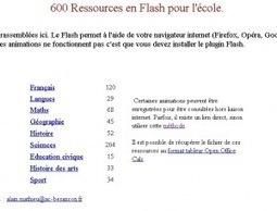 600 Ressources en Flash pourl'école. | Time to Learn | Scoop.it