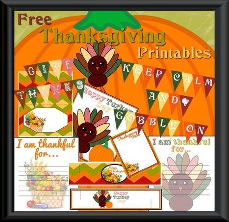 Complete Thanksgiving Printable Sets - My Personal Accent | Crafts | Scoop.it