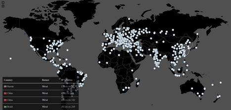 Here's a Live Map of the Mirai Malware Infecting the World | Data and Algorithms. Everyday life and culture | Scoop.it