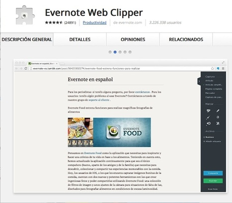 Evernote Web Clipper | Infografía. Google Chrome y sus extensiones en la Educación | Scoop.it