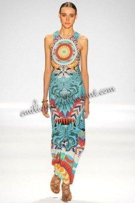 Cheap EMILIO PUCCI Multicolor Printed Column Maxi Dress | fashion things | Scoop.it