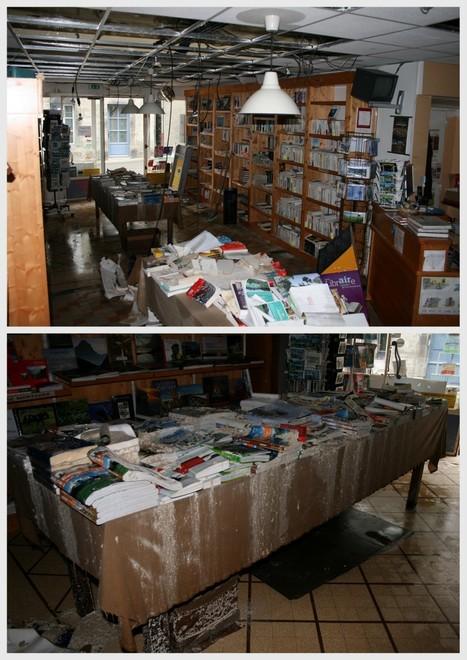 Inondation à la librairie Lis'Arts d'Arreau | Vallée d'Aure - Pyrénées | Scoop.it