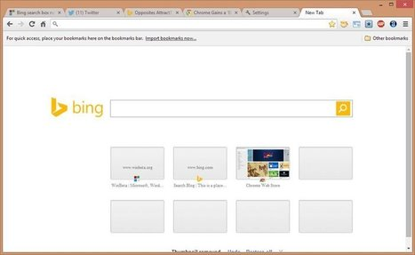 Bing search box now appears in Google Chrome's new tab page | WinBeta | SEO World | Scoop.it