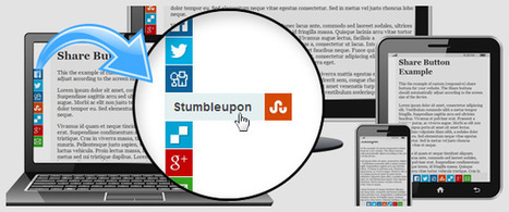 Responsive Share Buttons CSS and jQuery | Web Resources | Scoop.it