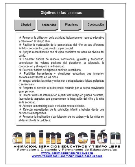 Educacion Social, Objetivos de las Ludotecas Sus objetivos,... | Cursos Ludotecas | Scoop.it