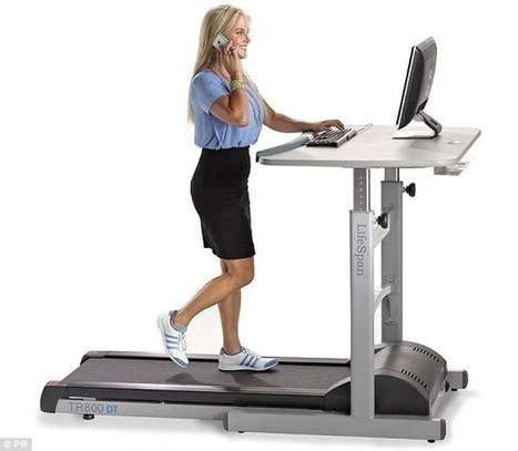 Can a treadmill desk boost your BRAIN? Researchers find walking while you work can improve memory and attention | Kickin' Kickers | Scoop.it