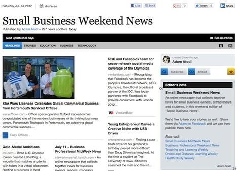 July 14 - Small Business Weekend News | Business Futures | Scoop.it