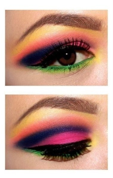 Neon Colors in Eye Shadow | At Home Beauty Treatments | Scoop.it