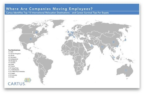 Research and Trends Top 15 Relocation Destinations Map | International Career | Scoop.it