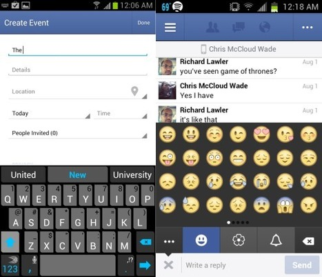 Facebook for Android app updated with messaging emoji, easy event creation and a bit more | Djalem Social Media | Scoop.it