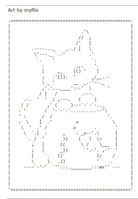 ASCII Art Cats - ascii-code.com | ASCII Art | Scoop.it