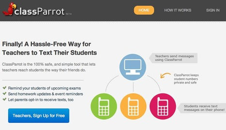 ClassParrot - Safe Texting for the Classroom -- ClassParrot | Moodle and Web 2.0 | Scoop.it