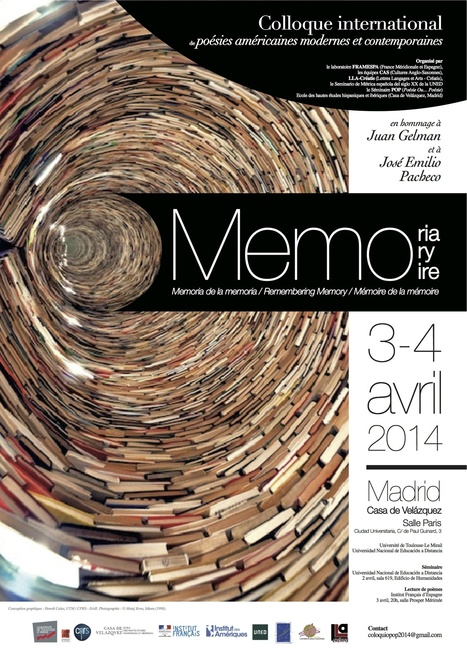 3-4 avril 2014  :: Mémoire de la mémoire  |  Colloque international de poésies américaines modernes et contemporaines (Madrid) | Patrimoine immatériel et culture | Scoop.it