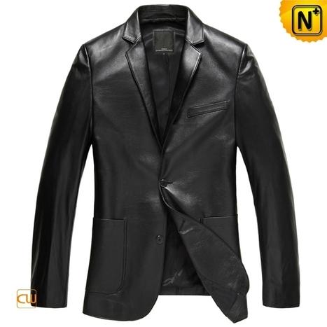 New York Mens Blazer Jacket Leather Jacket CW840801 | Leather Blazer Jacket | Scoop.it