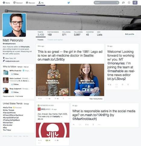 Découvrez le futur look de Twitter | Digital | Scoop.it