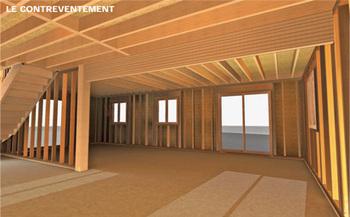 Système constructif d'une maison ossature bois 1/3 | construction d'immeubles en bois basse consommation | Scoop.it