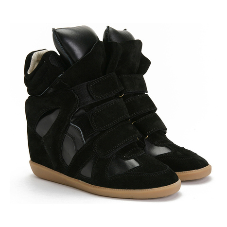 Upere Wedge Sneakers Suede in Black - $169.78 | UPERE Wedge Sneakers Show | Scoop.it