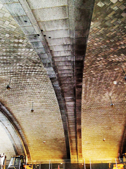 Guastavino tile vaults forming the ceiling of the First Avenue ... | Underground tunnels | Scoop.it