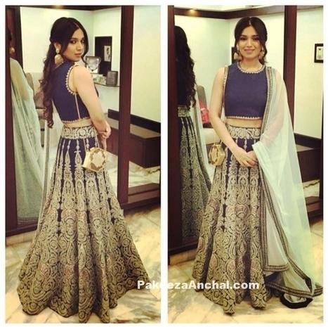 Bhumi Pednekar in sleevless Lehenga Choli in SVA by Sonam and Paras Modi | Indian Fashion Updates | Scoop.it
