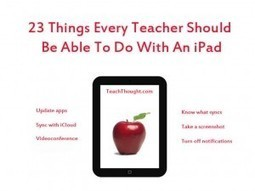 23 Things Every Teacher Should Be Able To Do With An iPad | iPads at the Berlage | Scoop.it
