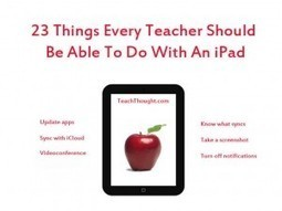 23 Things Every Teacher Should Be Able To Do With An iPad | teaching with technology | Scoop.it