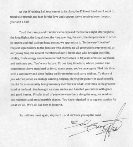 Une nouvelle version de rêve de « Dream Dream Dream »... et un message aux fans - le Blog Bruce Springsteen | Bruce Springsteen | Scoop.it