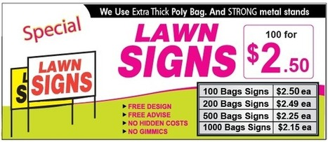 Cheap Lawn Signs Toronto | cheap lawn signs | Scoop.it