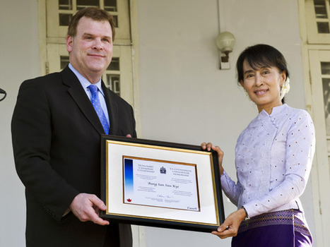 Burma's Aung San Suu Kyi offered honourary Canadian citizenship by John Baird | News | National Post | The Blog's Revue by OlivierSC | Scoop.it