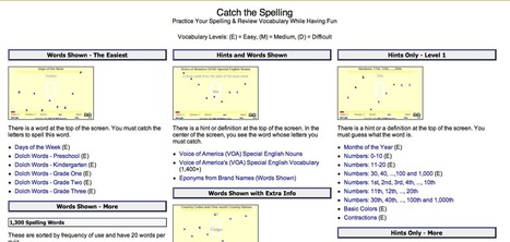 Catch the Spelling (Online Game for Studying Spelling & Vocabulary) | Technology Ideas | Scoop.it