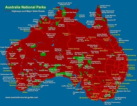 Australia National Parks Map | State & National Parks- HSIE (Stage 2) | Scoop.it