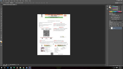 How to Open Aadhaar Card PDF File in Photoshop | Aadhaar Card | Aadhaar Card | Scoop.it