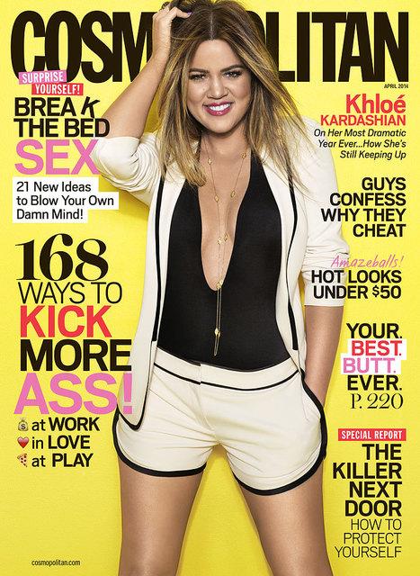 Khloe Kardashian on the cover of Cosmopolitan | Filmi Gossip | Scoop.it