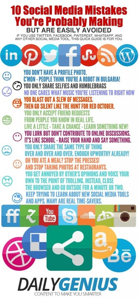 10 Social Media Mistakes You're Probably Making | Edudemic | Teaching and Learning English through Technology | Scoop.it